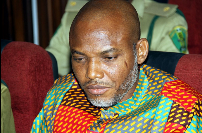 Nnamdi Kanu, leader of IPOB and Director of Radio Biafra, during a court appearance in Abuja, January 2016. He is currently being detained by the Nigerian authorities for his clamour for an independent Igbo nation │©TDN