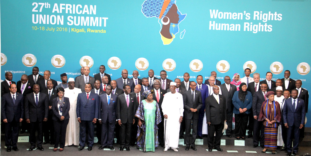 African leaders at the 27th Ordinary Session of the Assembly of the AU Summit in Kigali │© African Union
