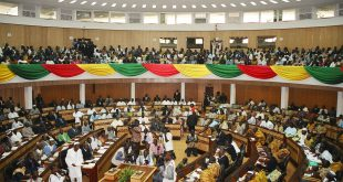 Ghana's Parliament. The elections had originally been scheduled for 7 November 2016, but the date was later rejected by Parliament │© Femi Awoniyi