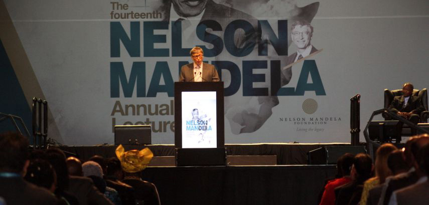 Bill Gates delivers the 14th Nelson Mandela Annual Lecture │© Nelson Mandela Foundation