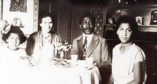Portrait of the family of Mandenga Diek, Berlin, about 1920 – with his wife Emilie Diek (nee Wiedelinski) and daughters Erika and Doris. Many in today's Black community have roots dating to more than 100 years ago │© SWF