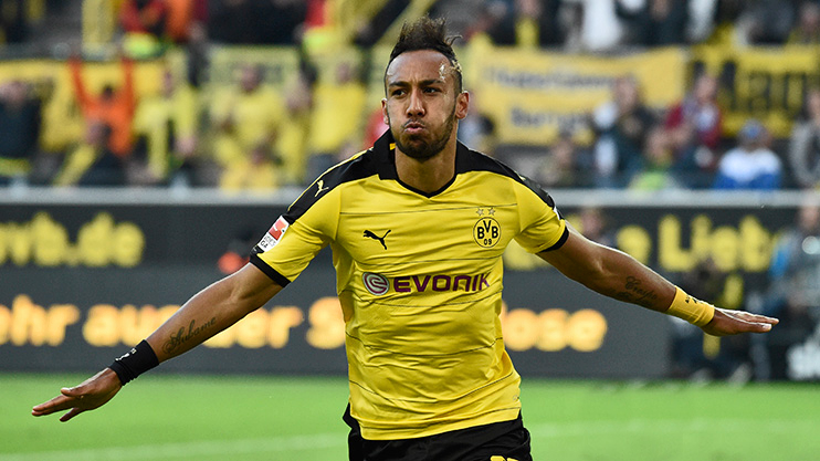 Aubameyang made his Bundesliga debut for Borussia Dortmund on 10 August 2013 and scored a hat-trick against FC Augsburg, including a goal from his first shot in the league│© PEA