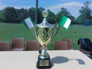 The trophy donated by the Embassy of Nigeria