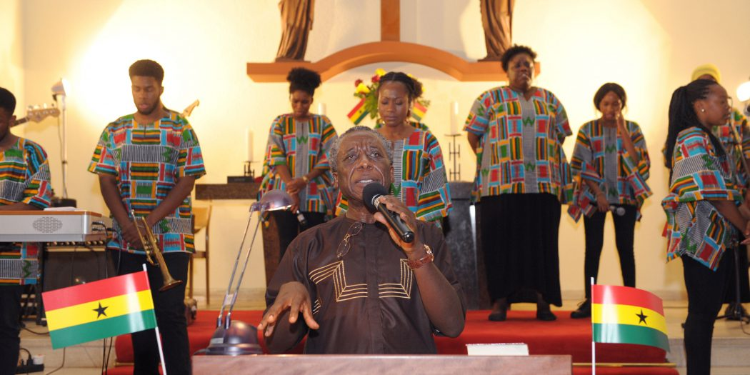 The Choir of the Gospel Believers International Church Berlin ministering at the event