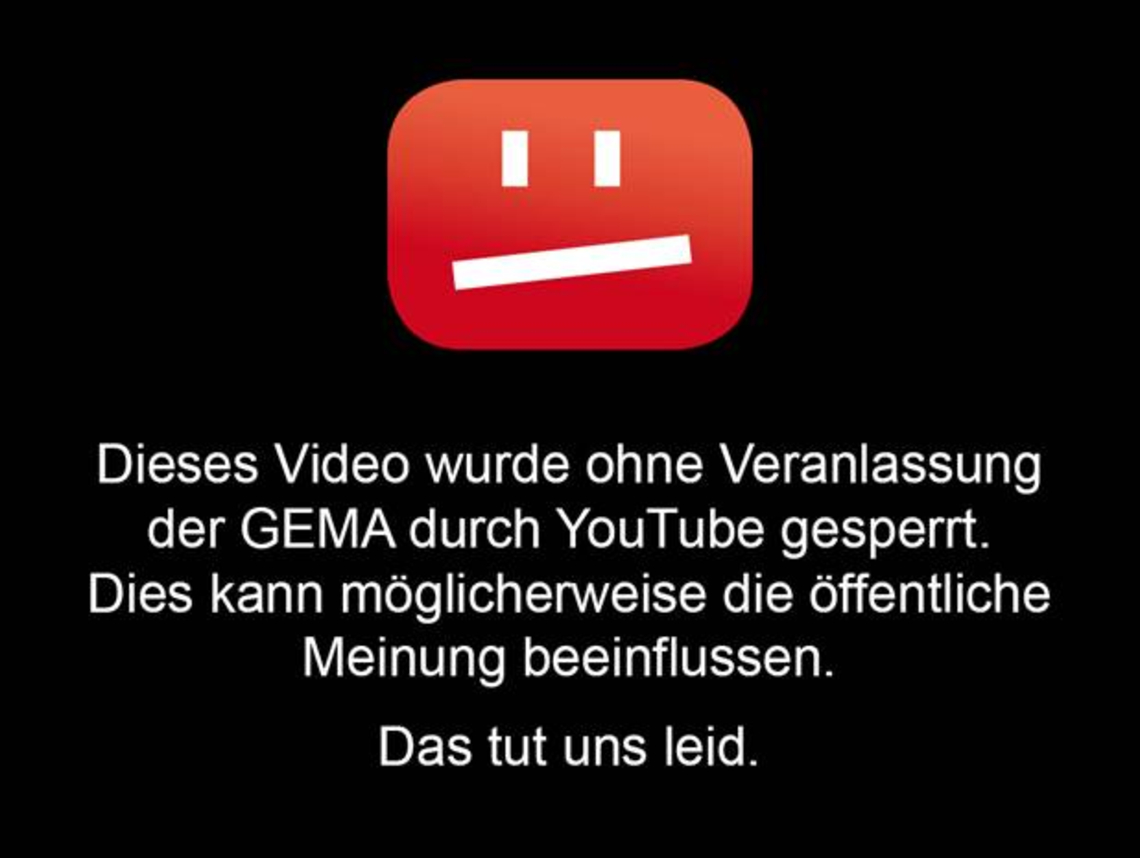 German music users will no longer face this sight / © YouTube